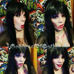 #elviramistressofthedark #elvira #mistressofthedark #makeup #makeupart #cosplay #zombie