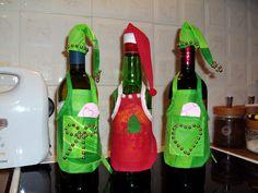 μπουκάλια με ποδιές