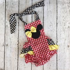 Minnie Mouse Red Infant Romper