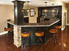 Basement Bar, stone instead of bricks!