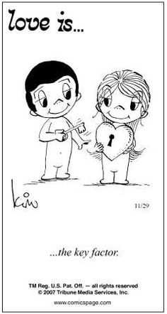 Love is. Number one website for Love Is. Funny Love is. pictures and love quotes. Love is. comic strips created by Kim Casali, conceived by and drawn by Bill Asprey. Everyday with a new Love Is. Comic Strip Love, Love Is Comic, Comic Strips, Still Love You, What Is Love, My Love, Beautiful Love, Cute Love, Long Distance Love Quotes