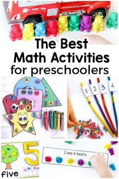 Preschool math activities that are hands-on and perfect for math centers!