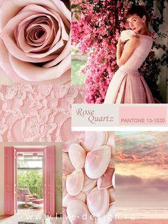 Во главе коллекции модных цветов Весна-Лето 2016 от Института Цвета Pantone стоит нежный и успокаивающий оттенок Rose Quartz / Розовый Кварц (Pantone 13-1520)....