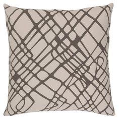 Surya Lambrook Abstract Throw Pillow - Gray - 20 x 20, Grey