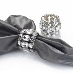 Brilliant Napkin Rings - Clear - Set of 4 from Z Gallerie  # zgallerie