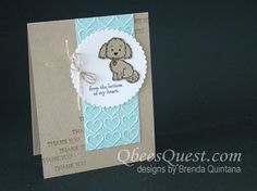 Qbee's Quest: CASE-ing Tuesday Bella & Friends Card