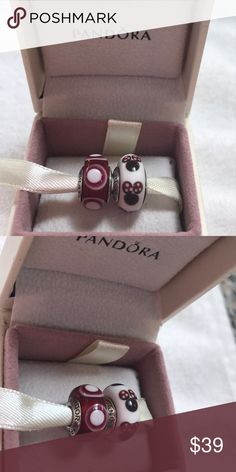 2 Pandora Charms NWOT. Sterling Silver stamped s925 Ale No box. No offer Pandora Jewelry Bracelets