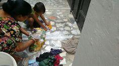 Washing clothes with nani
