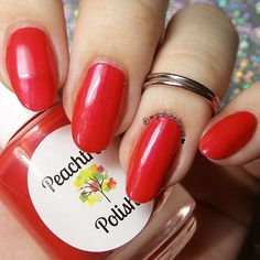 Reddish coral cream with a subtle shimmerOpaque with 2 coats(1) 15ml bottle for $8.00OR (1) 7ml mini for $4.00Shown with glossy topcoatPhotos courtesy of MyPolishedTips13 on Ins...