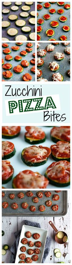 Zucchini pizza bites are the perfect snack for game day or any other time you need a healthy appetizer that is simple and easy to make, but full of flavor. (Baking Squash And Zucchini) Healthy Appetizers, Appetizer Recipes, Healthy Snacks, Snack Recipes, Easy Recipes, Healthy Eating, Healthy Recipes, Zucchini Pizza Happen, Zucchini Pizza Bites