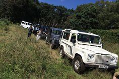 Land Rover 90 V8 green lane