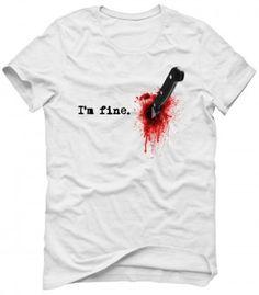 I'M FINE Koszulka Tshirt Bluza Męska Damska
