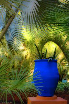 jardin majorelle in marrakech Dream Garden, Garden Art, Garden Design, Patio Chico, Moroccan Garden, Moroccan Design, Shades Of Blue, Garden Landscaping, Landscape Design