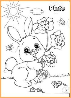 Easter Coloring Page Easter Coloring Sheets, Spring Coloring Pages, Easter Colouring, Cute Coloring Pages, Animal Coloring Pages, Printable Coloring Pages, Adult Coloring Pages, Coloring Pages For Kids, Coloring Books