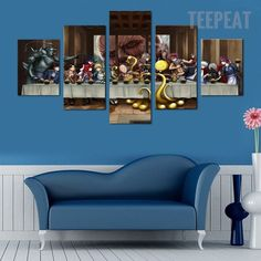 Last Supper : Anime United - 5 piece canvas