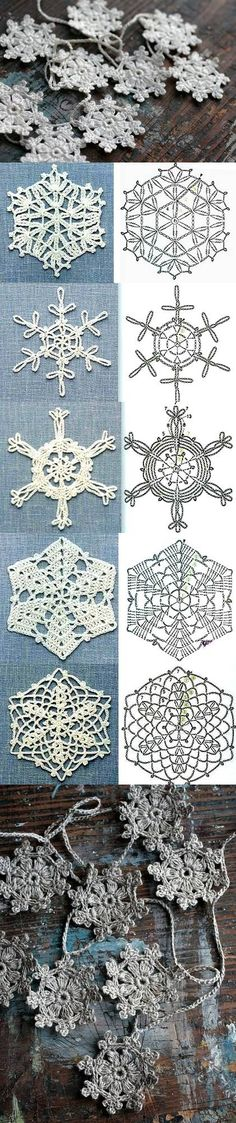 DIY Schemes Crochet Snowflakes DIY Schemes Crochet Snowflakes by diyforever