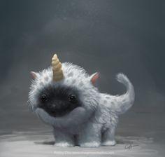 Fuzzy Baby Unicorn by imaginism on deviantART