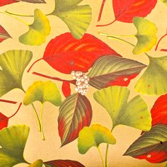 Gingko Italian Wrapping Paper