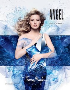 georgia may jagger for angel by thierry mugler ad campaign