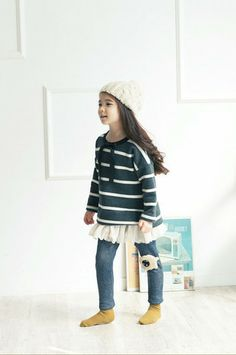 Striped Mini Dress. Smart-casual fashion for girls aged 1-8. Also available in navy at http://colormewhimsy.com