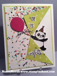 Party Pandas, #stampinup, #saleabrationcards, #stampinshout, #pandacards, #friendshipcards, #handmadeBirthdaycards