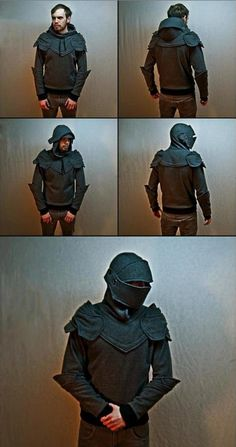 Armored Knight Hoodie - brilliant! I'd wear it (and would probably have to fight hubby & son for rights to do so).
