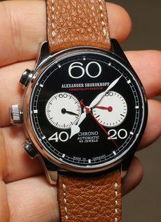 Alexander Shorokhoff Avantgarde Lefthanders' Automatic Chronograph Watch Review