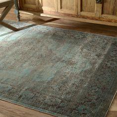 nuLOOM Oriental Vintage Viscose Persian Marine Area Rug (7'8 x 9'6) $290