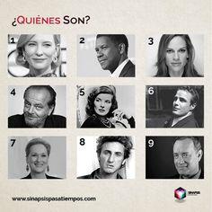 ¿Quiénes son? ¡Comenta cuál es tu favorito! #Pasatiempos #Entretenimiento #GanadoresDelÓscar #Actores #Actrices #Celebridades #Famosos Más en www.sinapsispasatiempos.com