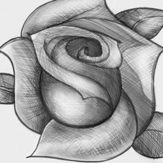 How To Easily Draw A Rose