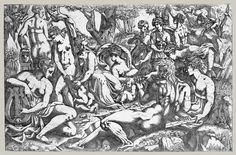 Antonio Fantuzzi & Francesco Primaticcio | The muses at the foot of Mt Parnassus | 1540-1545 | Metropolitan Museum of Art, New York, USA