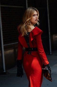 Love a red dress!