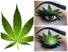 Marijuana Leaf Eyeshadow  #cannabis #marijuanaeyeshadow