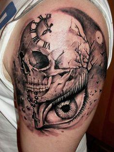 Skull Tattoos Half Sleeve For Men
