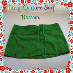 Juicy Couture surf skirt Surf skirt made of bathing suit material perfect to wear as a cover up over bikini bottoms Juicy Couture Skirts Mini