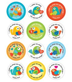 Under His Wings *Boho Birds* Stickers (CD-168165) #classroom #decor #AILtyler