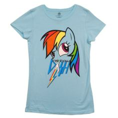 My Little Pony Rainbow Dash with Glitter Licensed Girls Shirt  Size S