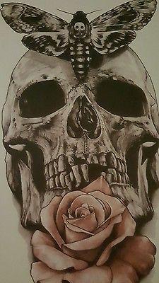 Tattoo Totenschädel gross 20 cm ***HOT PRICE****