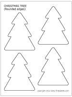 Small Christmas tree with round corners