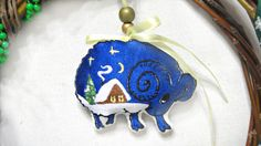 Christmas Ornament Lamb Sheep Tree Decor от LeatherBagsBackpacks