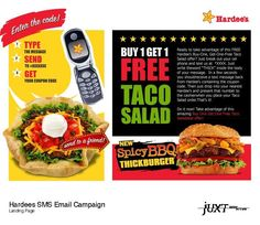 [Juxt Interactive] Copy for email promotion for Hardee's/Carl's Jr. campaign for Juxt Interactive/Huntington Beach.