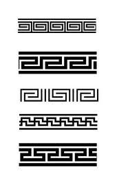 타이포그래피 Interior Design american society of interior designers Border Pattern, Border Design, Pattern Design, Greek Pattern, Oriental Pattern, Simbolos Tattoo, Forearm Band Tattoos, Korean Tattoos, Korean Design