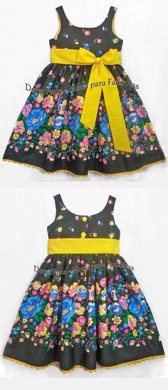 Vestido Floral colorido - 9/10  anos_______________baby - infant - toddler - kids - clothes for girls - - - https://www.facebook.com/dona.fada.moda.para.fadinhas/