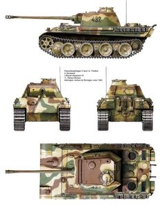 Panzer V Ausf. G Panther, Panzer Division, Remagen, 1945 Panzer Iv, Der Panther, Tank Armor, Military Armor, Tiger Tank, Model Tanks, Armored Fighting Vehicle, Ww2 Tanks, World Of Tanks