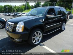 2012 Cadillac Escalade Interior | ... Raven 2012 Cadillac Escalade Luxury AWD with Ebony/Ebony interior