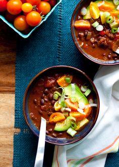 Black Bean Pumpkin Chili | 21 Vegetarian Dump Dinners For The Crock Pot