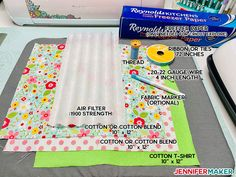 Materials, fabric, thread, and filter to make Cricut face mask patterns # diy face mask for sickness DIY Face Mask Patterns - Filter Pocket & Adjustable Ties! - Jennifer Maker mask pattern with filter pocket free printable Easy Face Masks, Diy Face Mask, Cricut Explore, Sewing Hacks, Sewing Projects, Sewing Ideas, Sewing Crafts, Diy Masque, Baby Shower Invitaciones