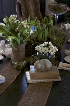 Woodland Nesting » Just a Smidgen #Easter Tablescape #Woodland Tablescape