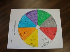 color wheel of feelings lesson
