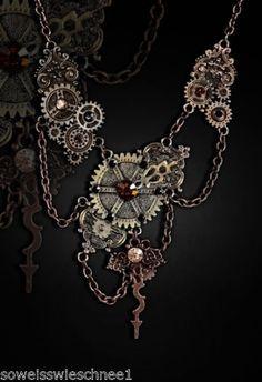 Restyle-Steampunk-Zahnraeder-Halskette-Vintage-Fusion-Collier-Gothic-Necklace-WGT